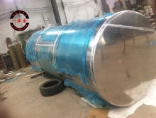 Aluminum alloy tank welding